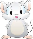 cartoon images of little grey mice.