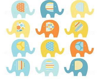 elephant clip art baby elephant clipart chevron mustard by huetoo.