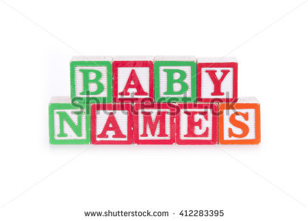 Baby Names Stock Images, Royalty.