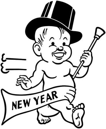 10,841 Baby New Year Stock Vector Illustration And Royalty Free Baby.