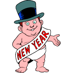 Baby New Year clipart, cliparts of Baby New Year free download (wmf.