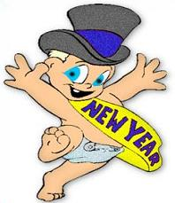 Free New Year Baby Clipart.