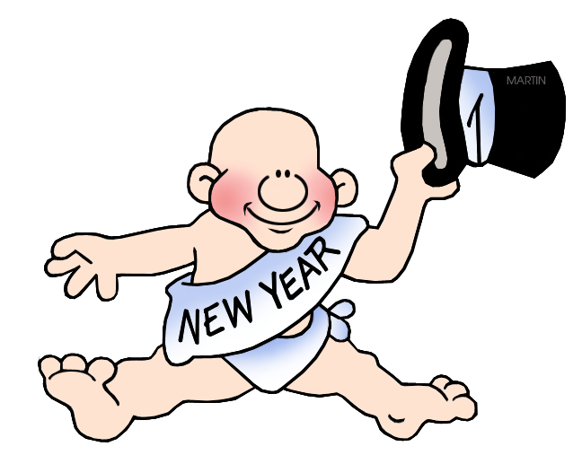 New Year's Clip Art by Phillip Martin, New Year's Baby.