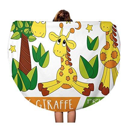 Amazon.com: Pinbeam Beach Towel Animal Baby Giraffe Kids Nursery.