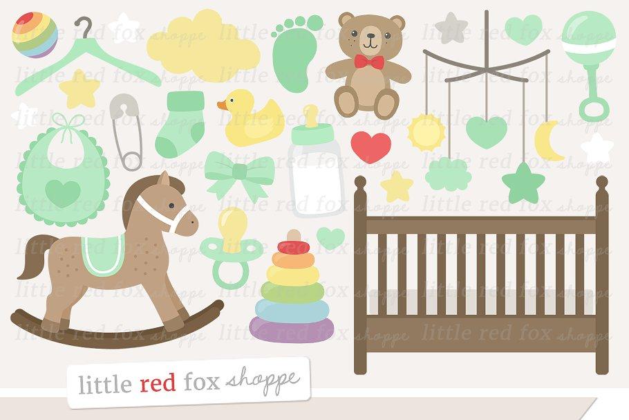 Baby Nursery Clipart.