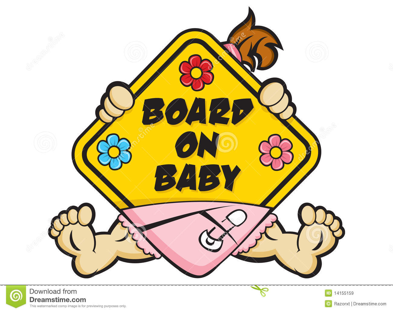 Baby On Board Sign Royalty Free Stock Images.