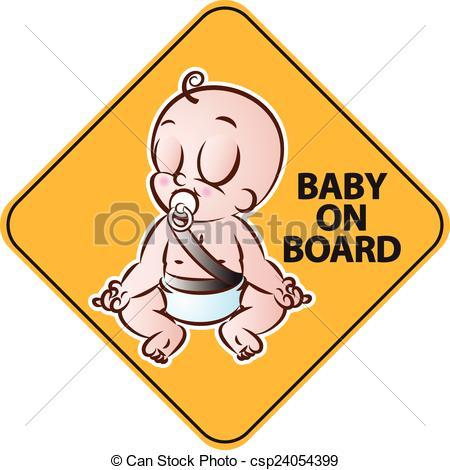 EPS Vectors of Baby on Board.