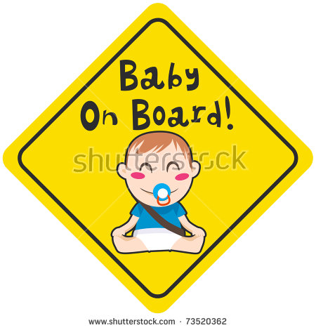 Baby On Board Sign Stock Photos, Royalty.