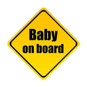 Clipart of Baby on board k6315124.