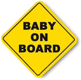 No Baby On Board Clipart.