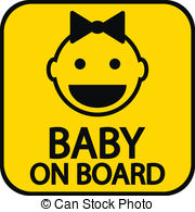 Baby on board Clip Art Vector Graphics. 723 Baby on board EPS.