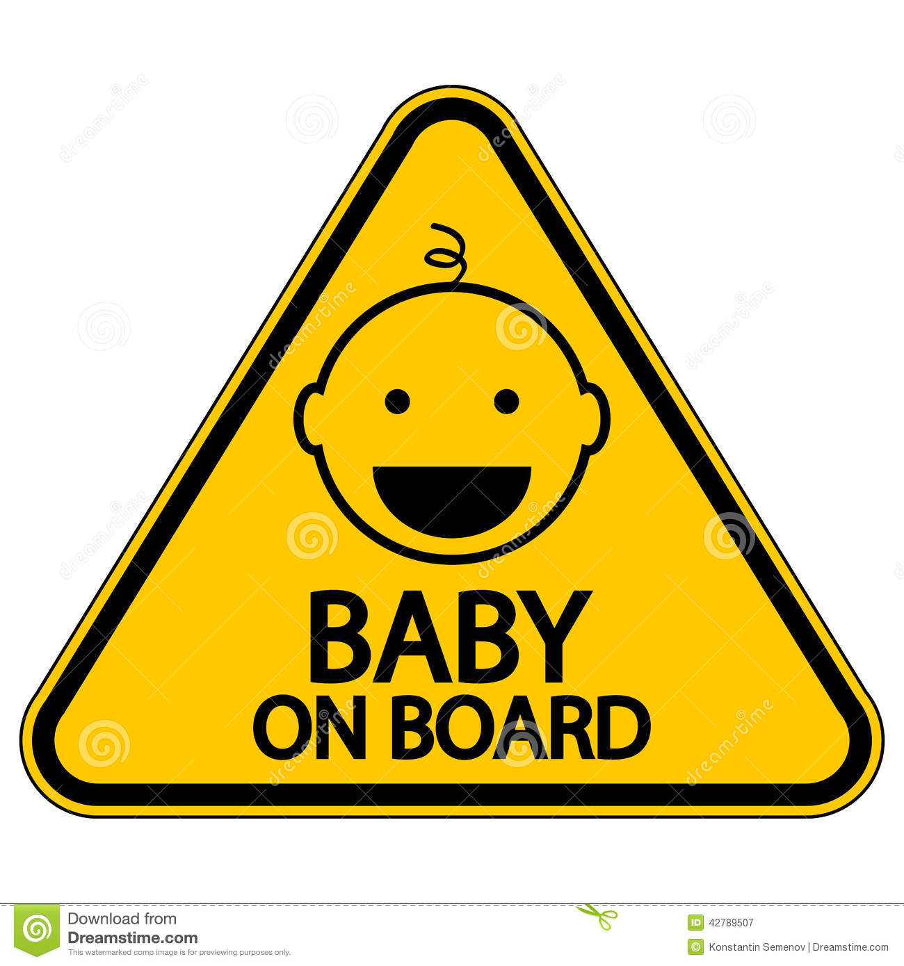 Baby On Board Sign Stock Vector.