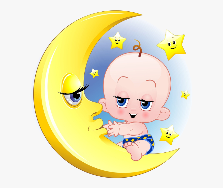 Baby On Moon Clipart , Transparent Cartoon, Free Cliparts.