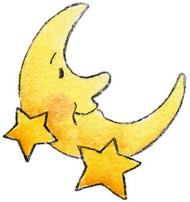 Baby moon clipart.