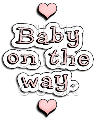 Baby On The Way Clipart.