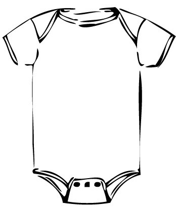 Baby onesie clipart black and white 1 » Clipart Portal.