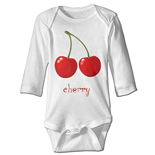 Amazon.com: Jusddmre Baby Onesie Red Cherry Clipart Infant.