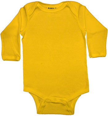 Download yellow long sleeve onesie clipart T.