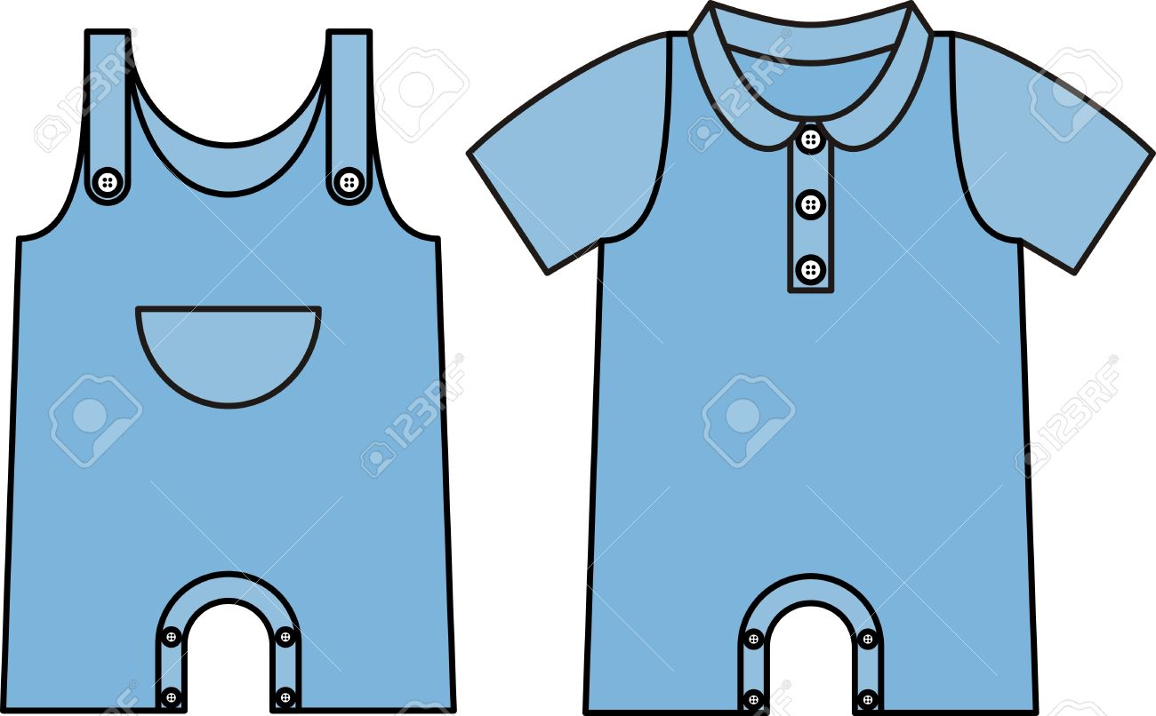 Image jumpsuit with an outline. Denim dress for baby.