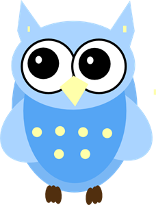 Blue Baby Owl PNG, SVG Clip art for Web.