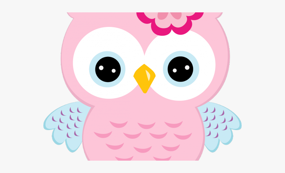 Shower Clipart Pink Baby Owl.