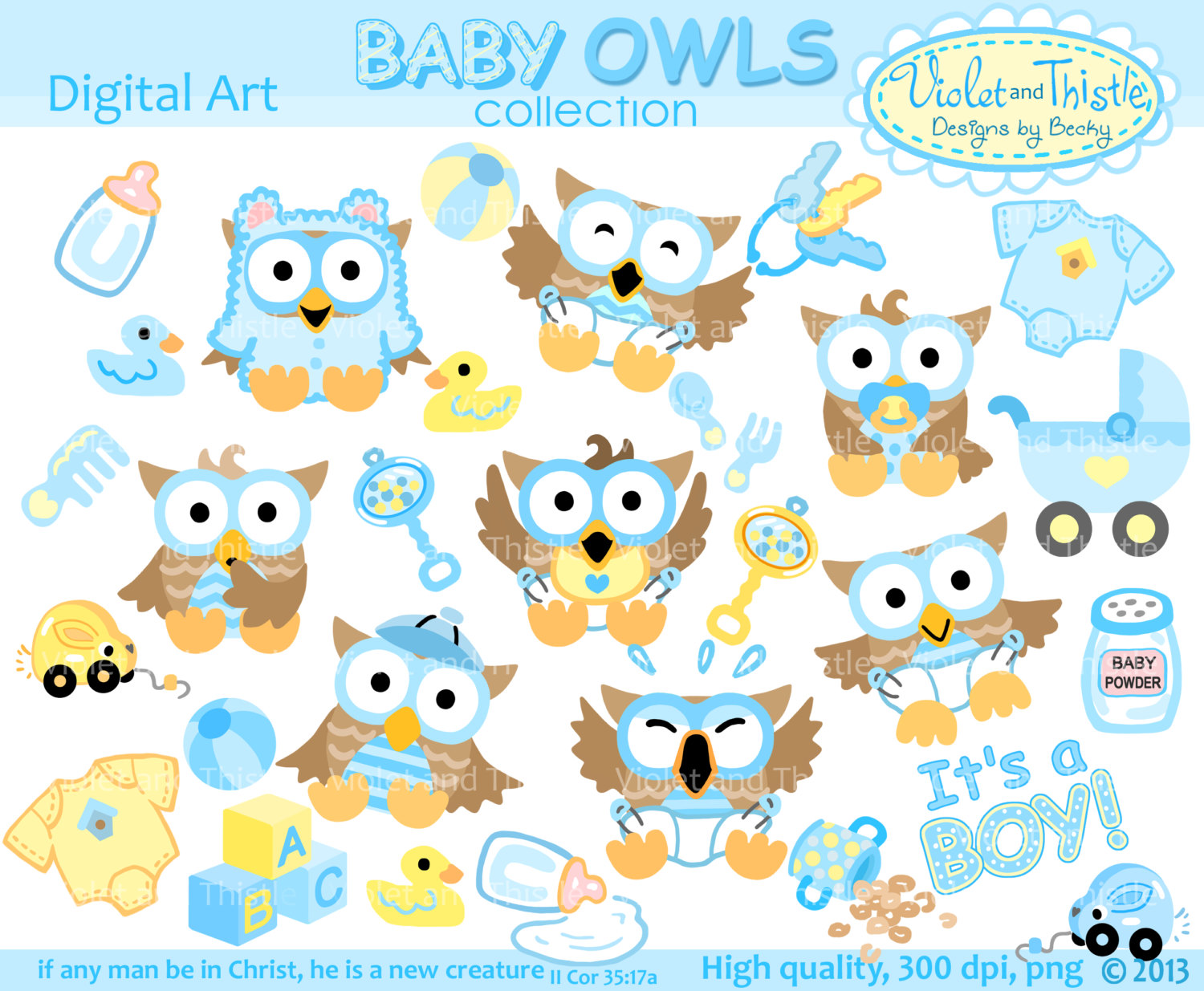 Free baby boy owl clipart.