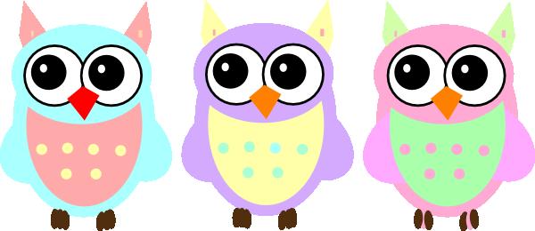 Pastel Baby Owls Clip Art at Clker.com.