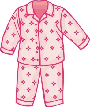 Childs Pajamas Clipart Picture Free Download.