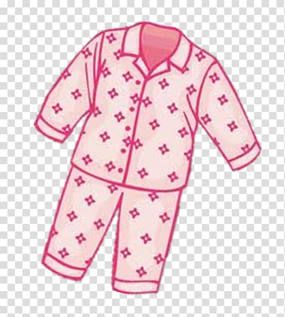 Pink and white pajamas set , Pajamas Clothing Professor.