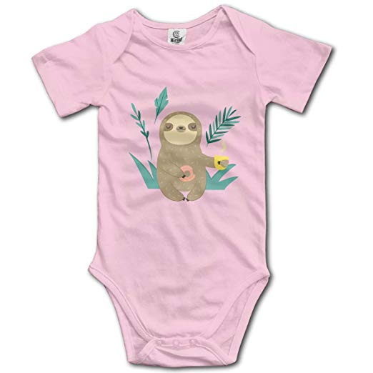 Amazon.com: FTDewQ90 Baby Girls Sloth Clipart Coffee Short.