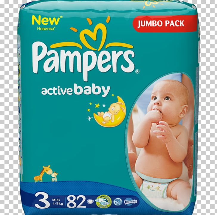 Diaper Pampers Baby.