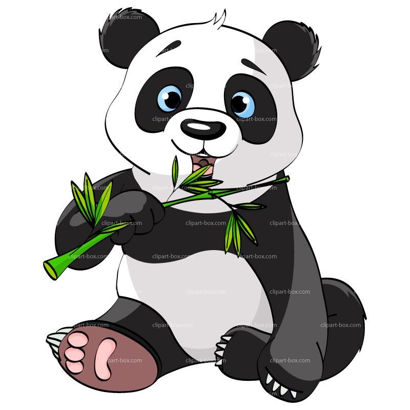 752 Panda Bear free clipart.