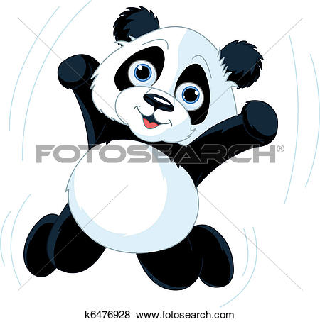 Clipart of Baby Panda k3180281.