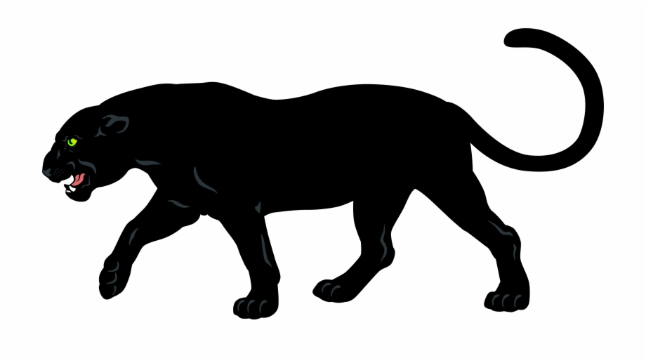 Baby Panther Head Clip Art.