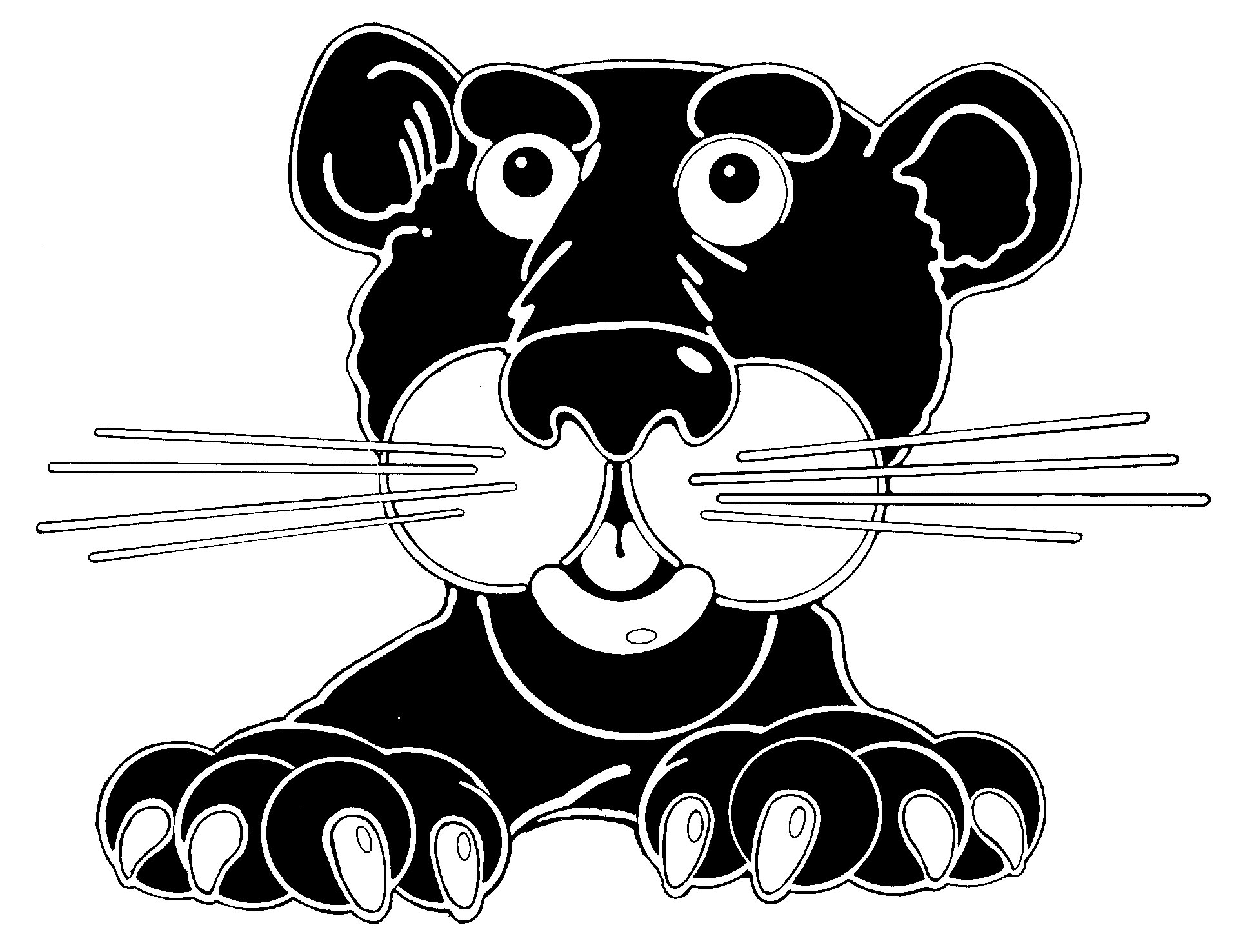 Cute Panther Clipart.