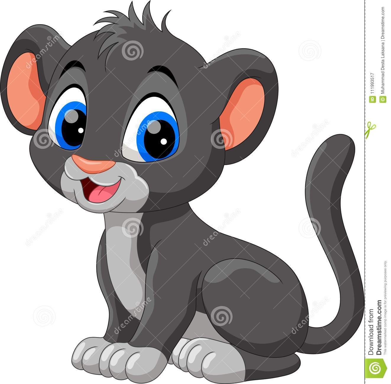 Baby Panther Clipart.