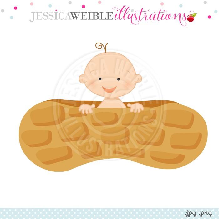 Baby Peanut Clipart.