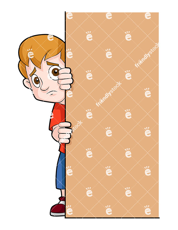 Timid Child Clipart.