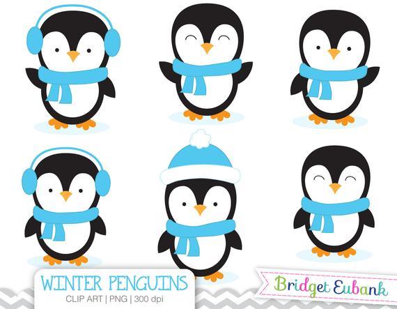 Penguin Clipart, Boy Penguins Clipart, Baby Penguin Clipart, Blue Penguins,  Commercial Use, INSTANT DOWNLOAD.