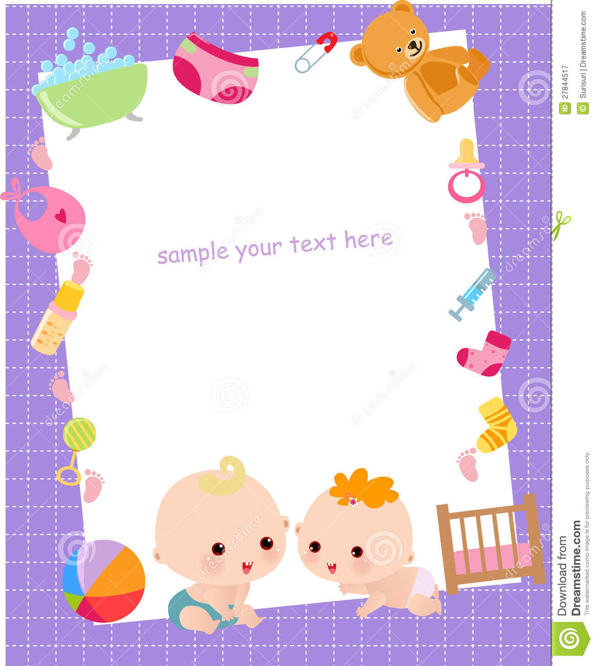 Baby Frame Clipart.