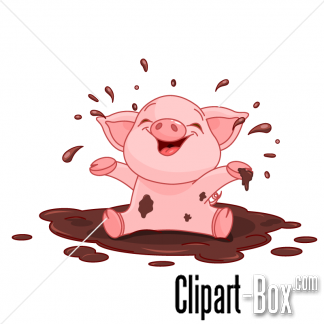 Cute Baby Pigs Clipart.