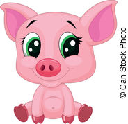 Baby Pigs Clipart.