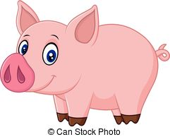 Baby Piglet Clipart.