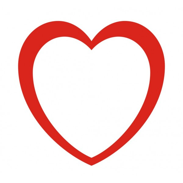1054 Heart Outline free clipart.