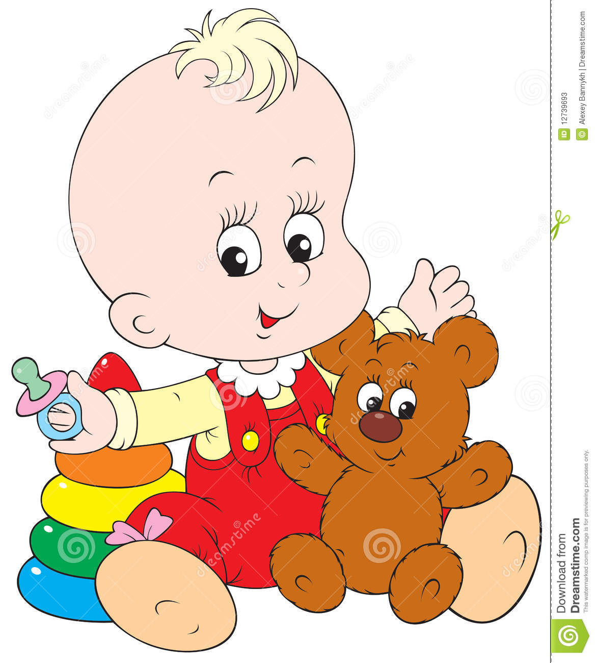 Baby Playing Clipart.