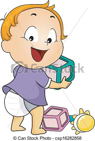Baby playing clipart » Clipart Station.