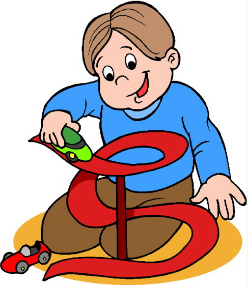 Child Playing With Toys Clipart.
