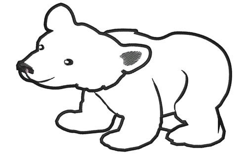 Baby Polar Bear Clipart.
