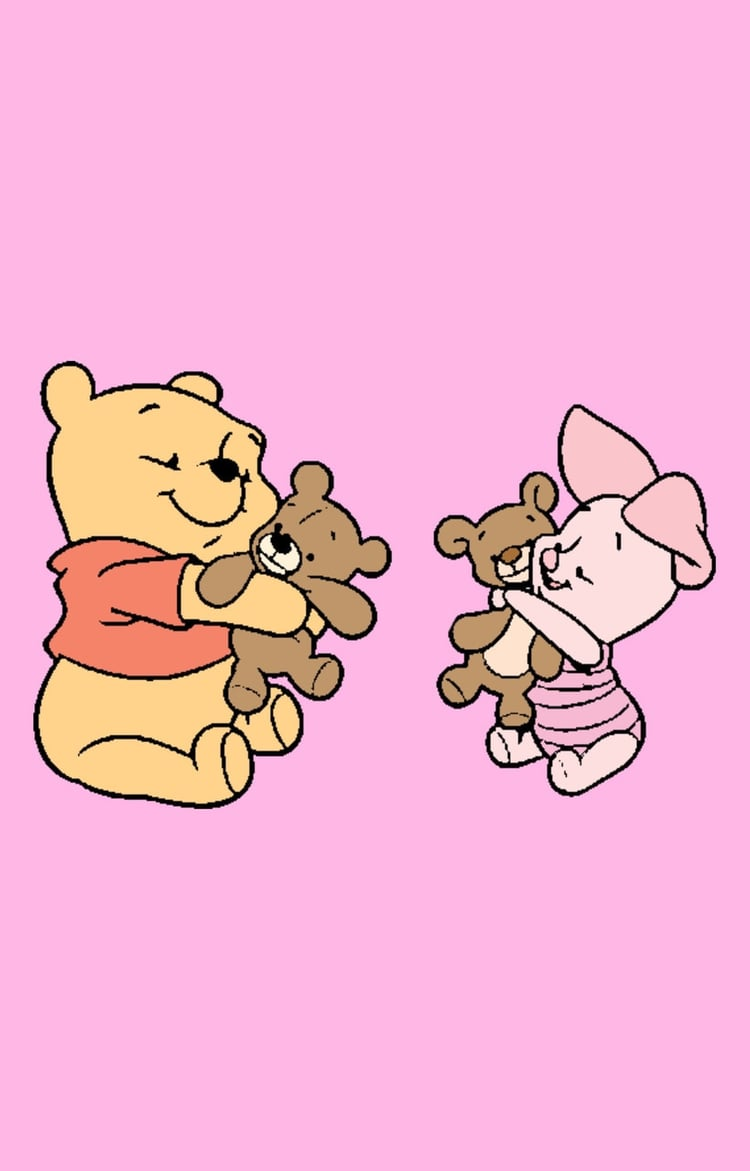 Baby Pooh & Friends Lockscreen on We Heart It.