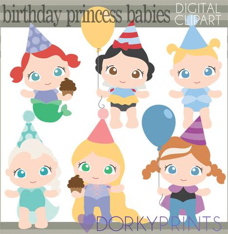 Baby Princess Birthday Clipart.